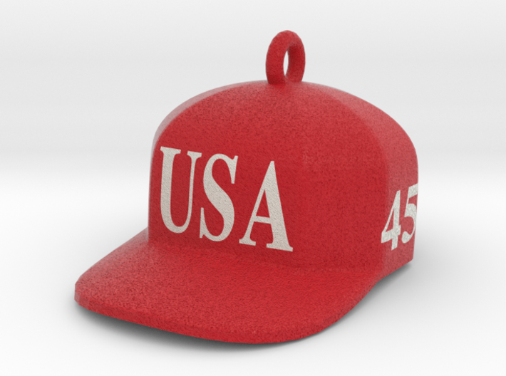 Trump Make America Great Again USA 45 Red Hat Orna 3d printed