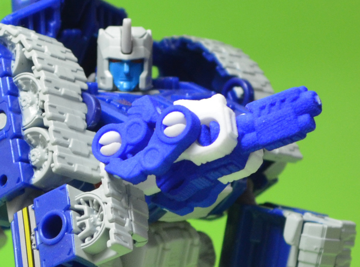 RhinoBlaster Transforming Weaponoid Kit (5mm) 3d printed Assembled kit, made with one blue and one white kit.