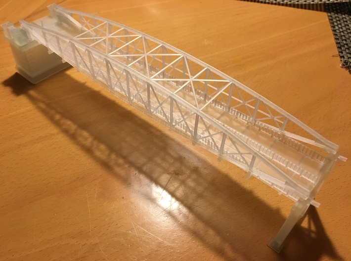 Hoogespoorbrug Zwolle 3d printed Unpainted print of bridge, bridgehead and support