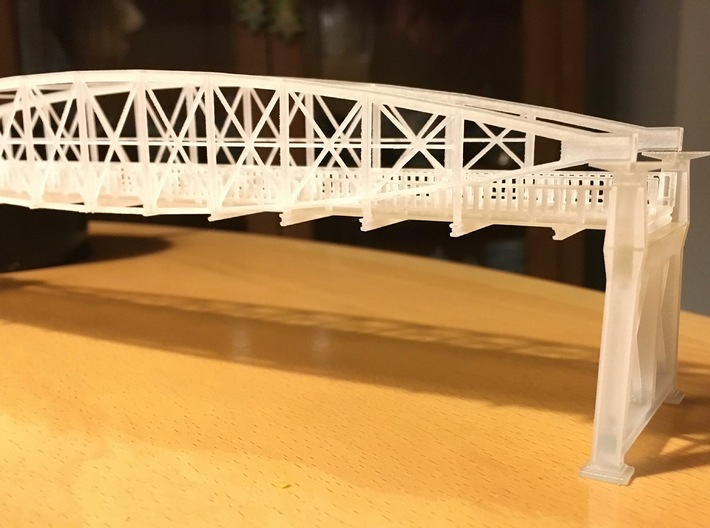 Hoogespoorbrug  Zwolle 3d printed Unpainted print of bridge and support.
