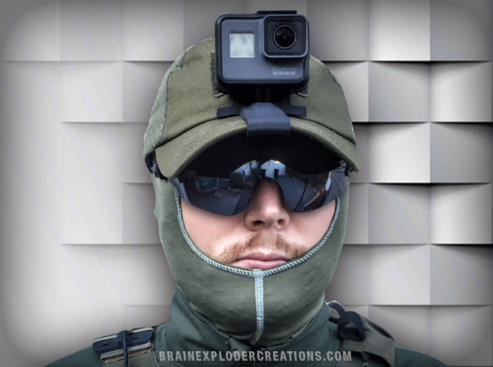Tactical Cap Mount Compatible with GoPro Hero 5-7 3d printed