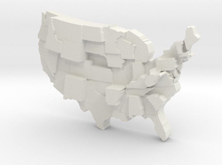 USA by Guns 3d printed