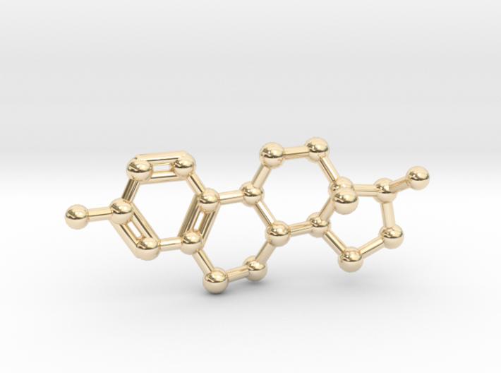 Estrogen (female sex hormone) Necklace Keychain 3d printed