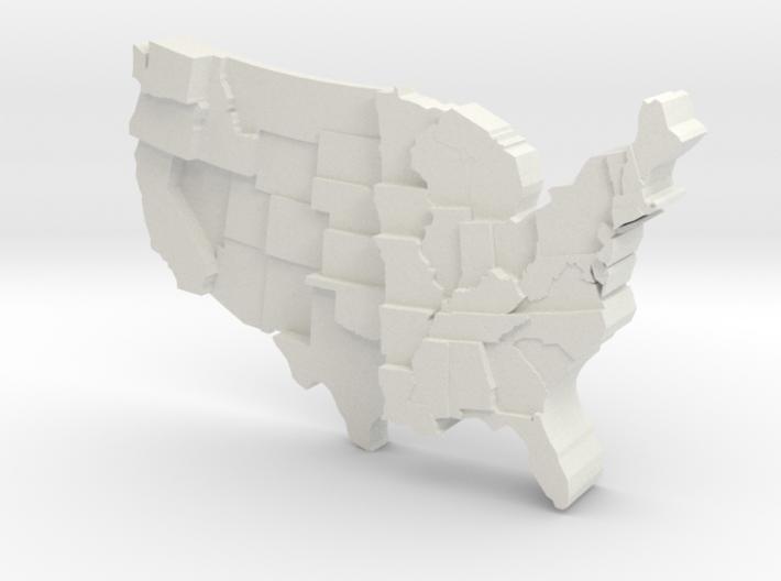 USA by Rainfall 3d printed