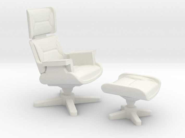 Eames Lounge Chair Inspired 3d printed