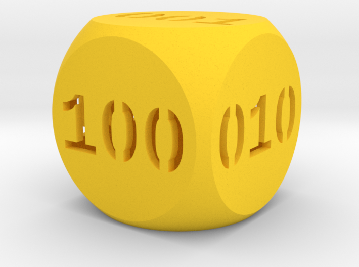 Programmer's dice 3d printed