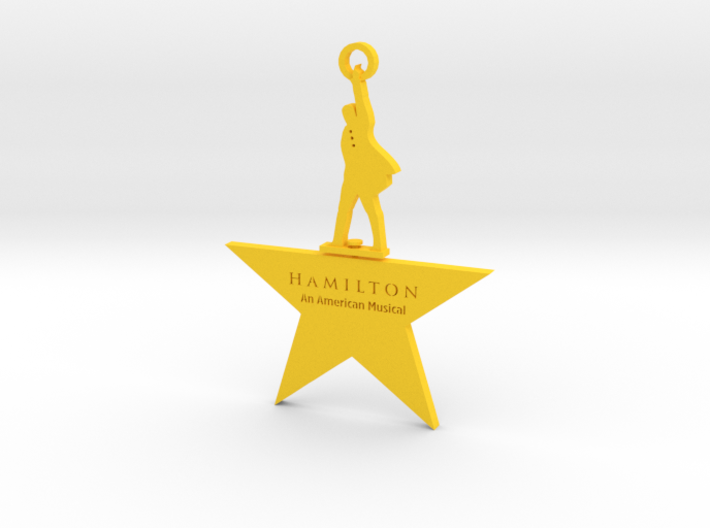 Hamilton Spinning Ornament 3d printed