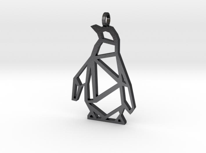 Geometric Penguin Necklace 3d printed