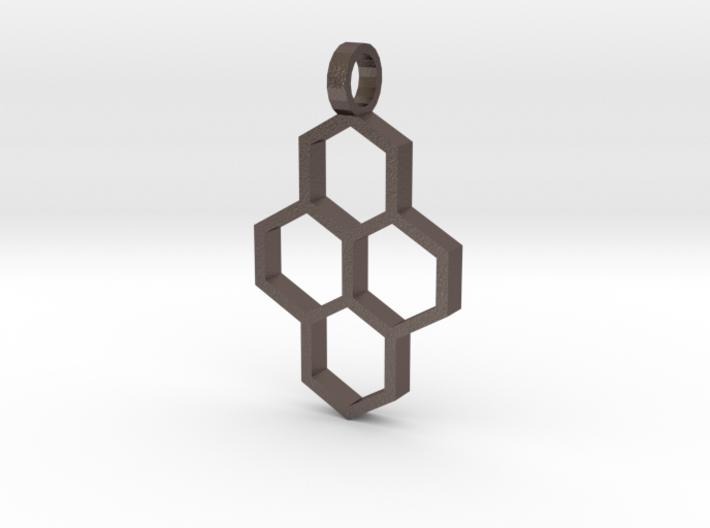 Hex Drop Necklace 3d printed