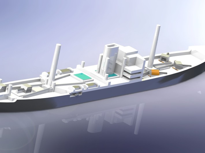 German Auxiliary Cruiser HSK Orion 1/2400 3d printed