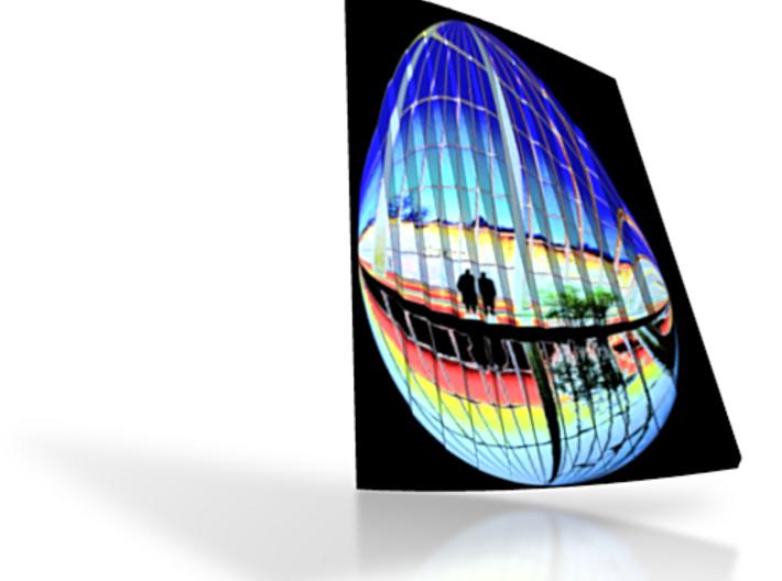 Dendur View 4in Twist Mirrored 3d printed