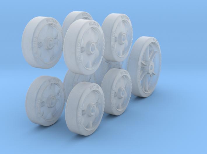 1-24 M5 Stuart Road+Idler Wheels Set1 3d printed