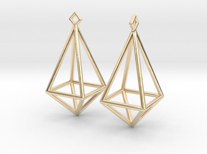 Diamond Earrings #L 3d printed