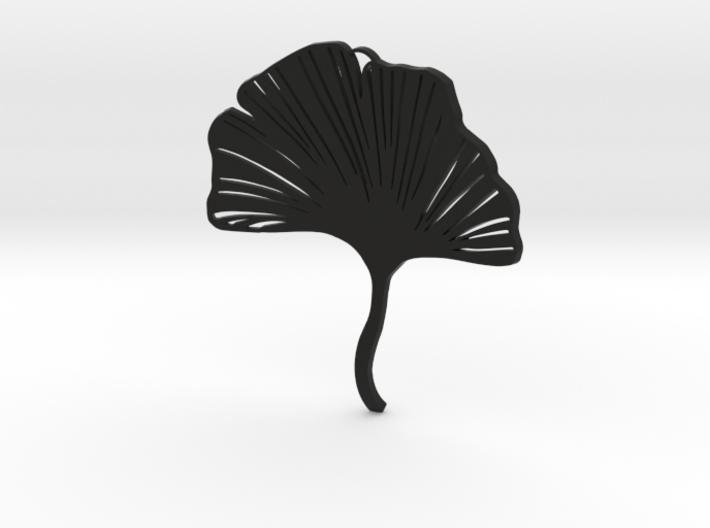Ginkgo leaf pendant 3d printed