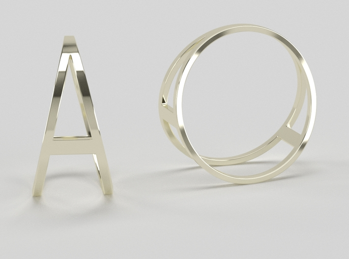 The A Ring 3d printed