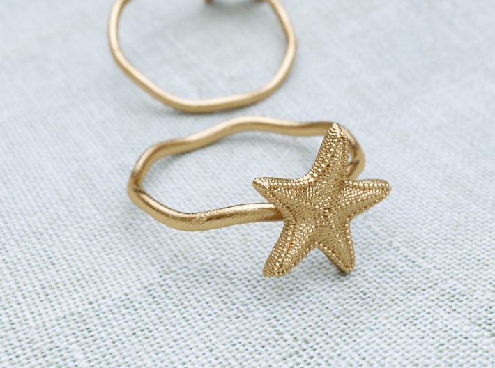 Starfish ring 3d printed