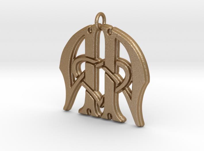 Monogram Initials AA.3 Pendant 3d printed