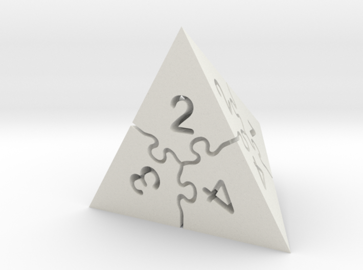 Jigsaw Puzzle D4 Dice 3d printed