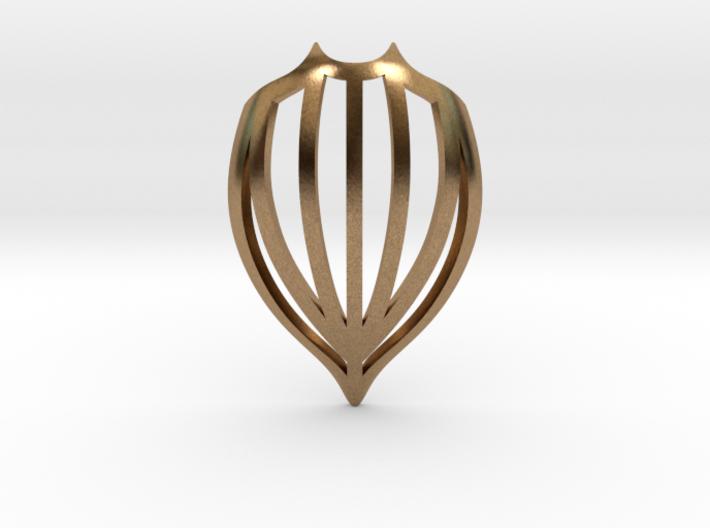 Leatherback Shell Pendant 3d printed