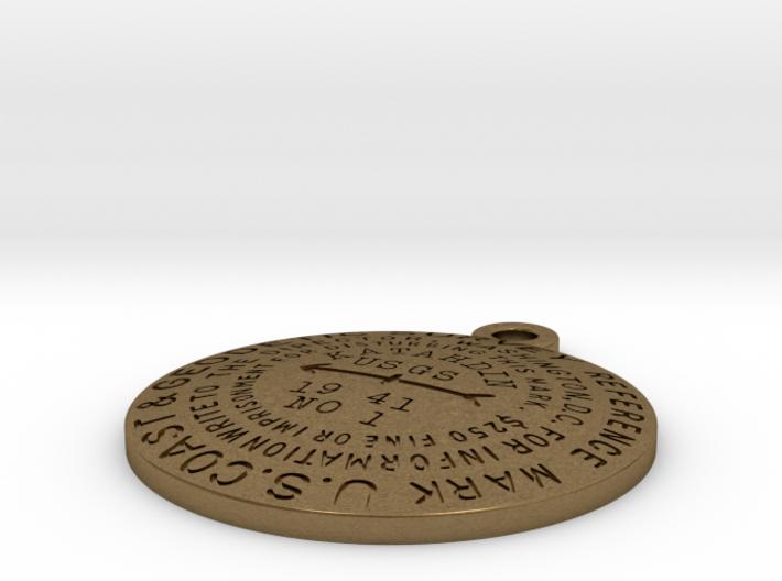 Mount Katahdin Benchmark Keychain 3d printed