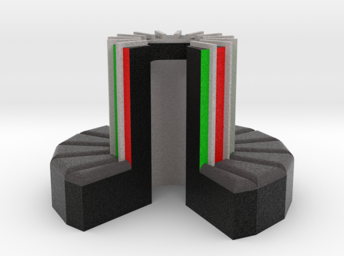 1/100-scale Cray-1 Christmas Ornament 3d printed