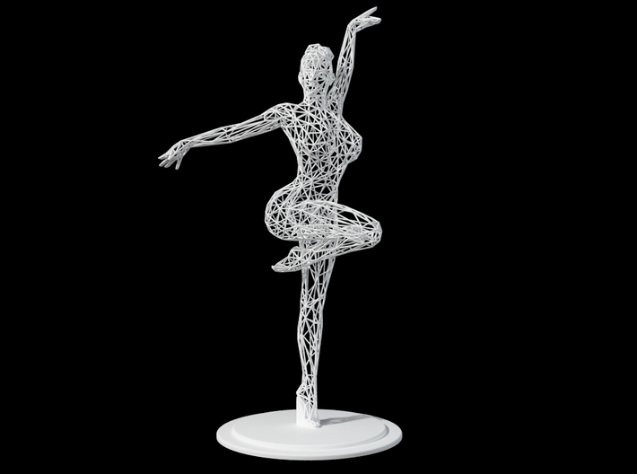 Wireframe Ballet Girl 30CM 3d printed