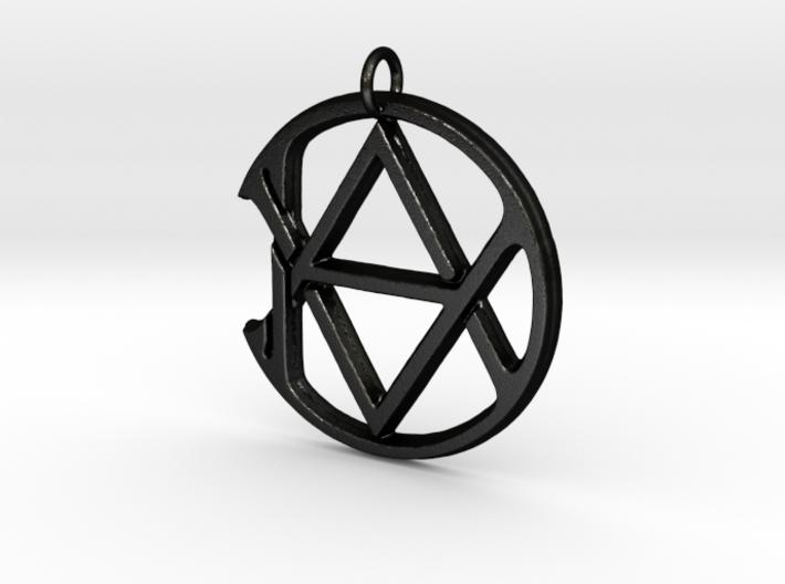 Monogram Initials AAD Pendant 3d printed