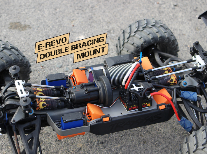 E-Revo Double Bracing Mount (Rear) 3d printed