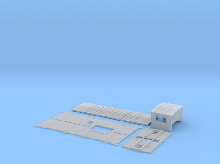 MP 13575-13664 Rebuilt Caboose Body Kit 3d printed