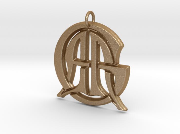 Monogram Initials AAG Pendant 3d printed