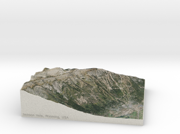 Jackson Hole, Wyoming, USA, 1:25000 3d printed