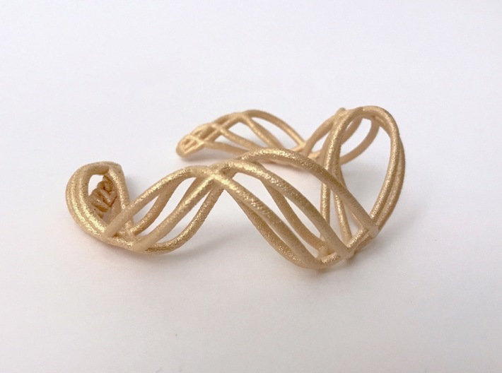DNA  bracelet for her 3d printed