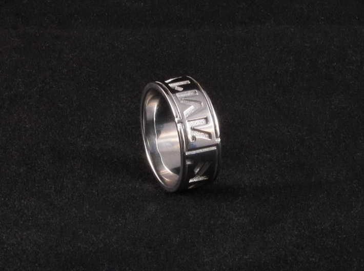 Star Wars ring - Aurebesh - 8 (US) / 57 (ISO) 3d printed