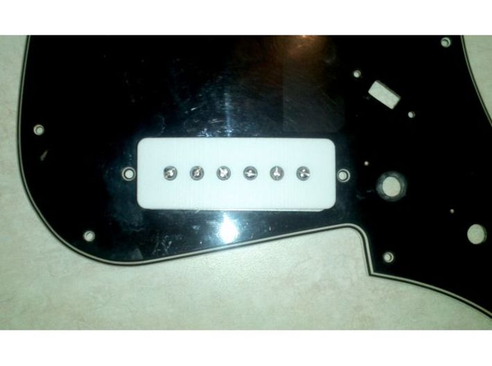 1802T Pickup Cover 3d printed Shown with internals installed on an 1802/ET270 pickguard.