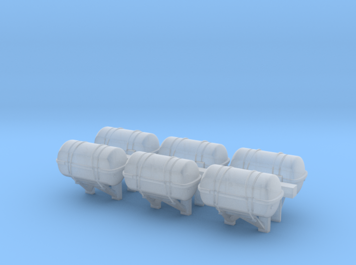 1:72 scale LifeBoat Canister - Wall 3d printed
