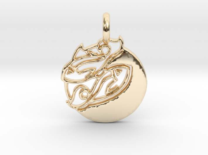 Astrology Zodiac Pisces Sign 3d printed Pisces is gold.