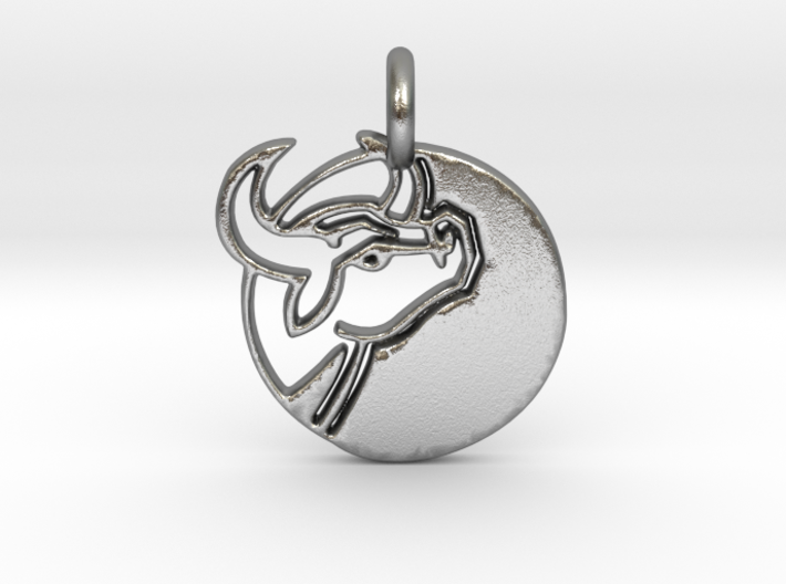 Astrology Zodiac Taurus Sign 3d printed Astrology Zodiac Taurus Sign in silver.