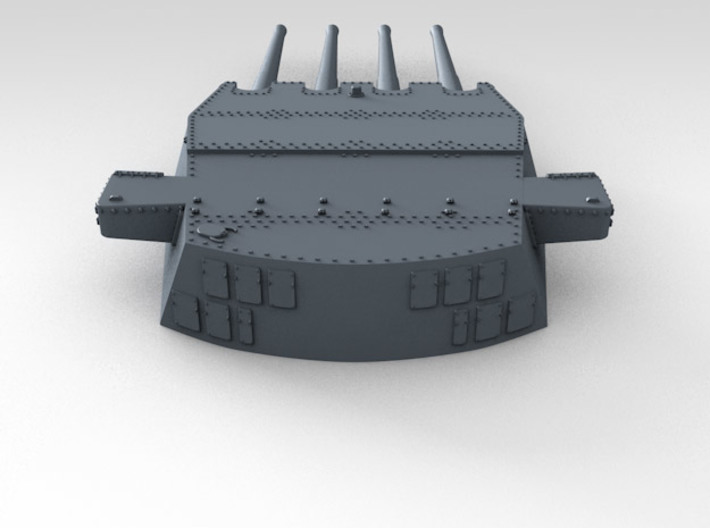 """1/350 HMS King George V 14"""" Turrets 1941 3d printed 3d render showing product detail (A Turret)"""