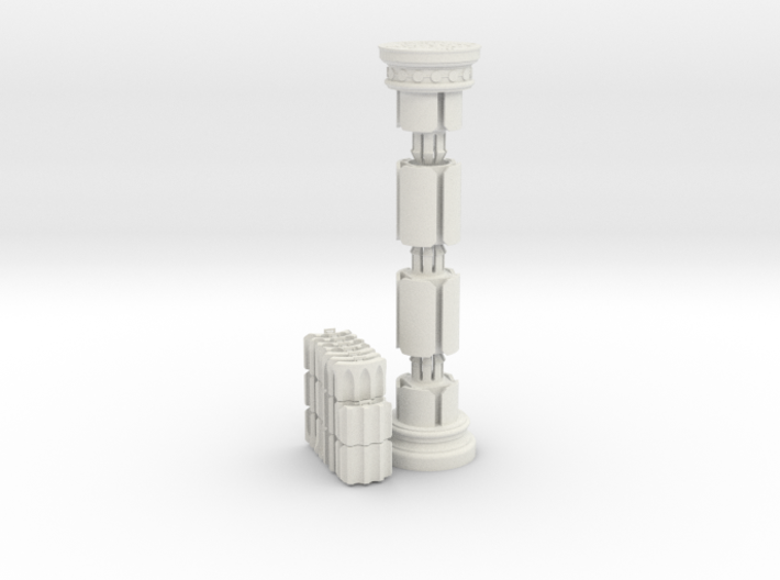 The Crazy Column Puzzle 3d printed