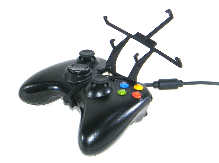 Xbox 360 controller & Intex Aqua 4G+ 3d printed Without phone - A Samsung Galaxy S3 and a black Xbox 360 controller