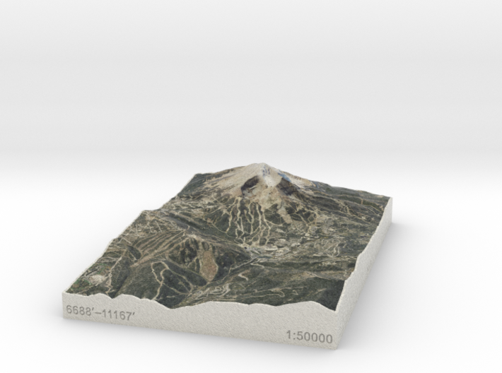 Big Sky Resort, Montana, USA, 1:50000 3d printed