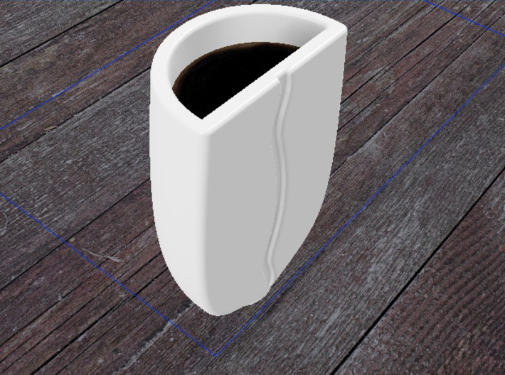 Coffe Bean Espresso Cup 3d printed Render of Gloss White