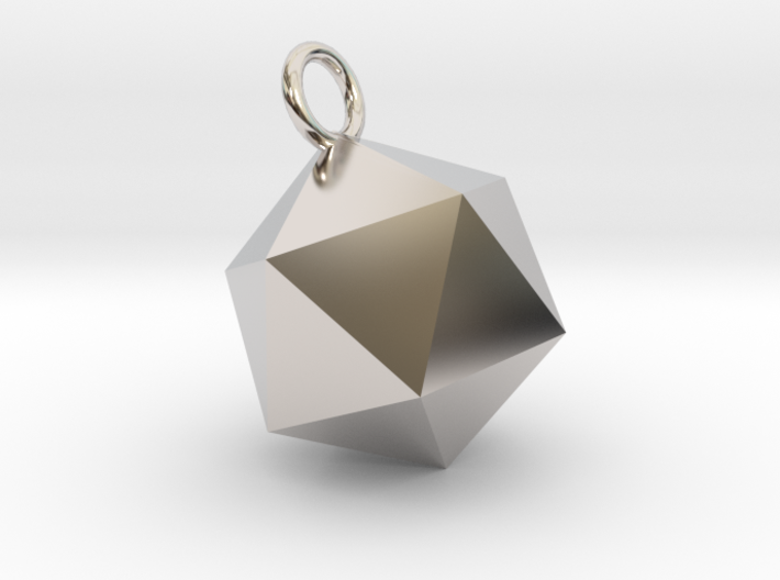An Icosahedron Earring 3d printed