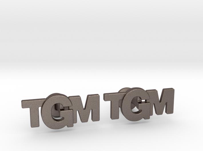 Monogram Cufflinks TMG 3d printed