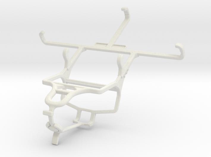 Controller mount for PS4 & QMobile Noir M300 3d printed