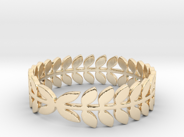 Laurel Ring (size 4-13) 3d printed