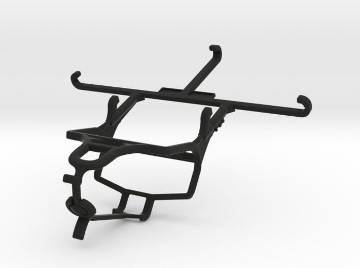 PS4 controller & QMobile Noir Z9 - Front Rider 3d printed