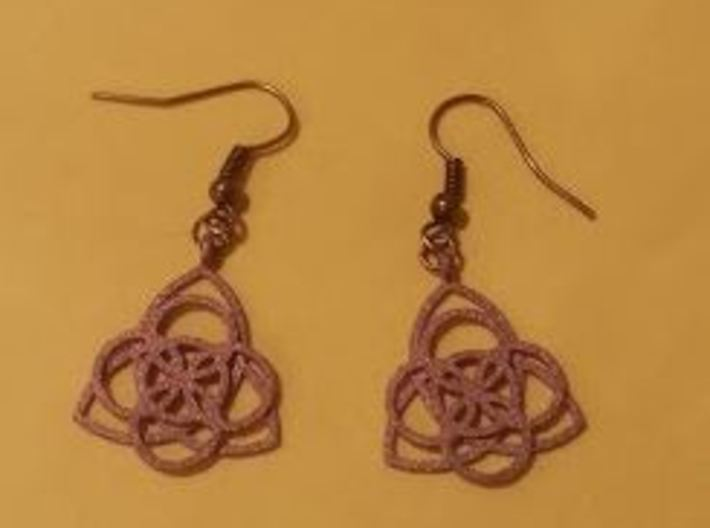 Celtic Earrings 3d printed Stainless steel (Hooks added after)