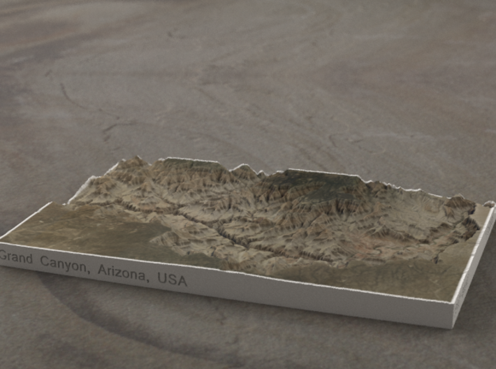 Grand Canyon, Arizona, USA, 1:250000 Explorer 3d printed