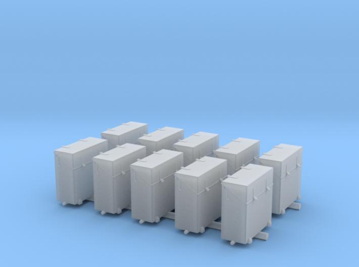 1/72 IJN Ammo Box 25mm Triple Set 10 Units 3d printed